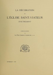 Cover of: La décoration de l'Église Saint-Viateur d'outrement