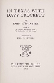 Cover of: In Texas with Davy Crockett