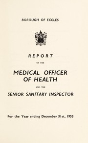 Cover of: [Report 1953] | Eccles (Greater Manchester, England). Borough Council
