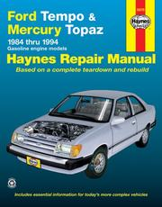 Cover of: Ford Tempo & Mercury Topaz automotive repair manual