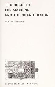 Cover of: Le Corbusier | Norma Evenson