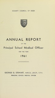 Cover of: [Report 1961] | Essex (England). County Council