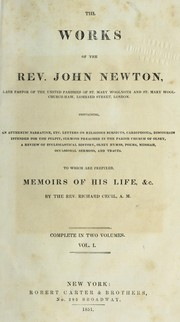 Cover of: The works of the Rev. John Newton...