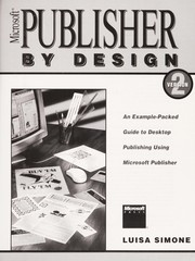 Cover of: Microsoft Publisher by design, version 2