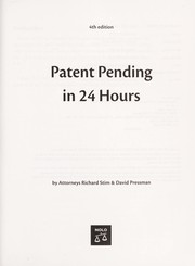 Cover of: Patent Pending in 24 Hours [electronic resource] |