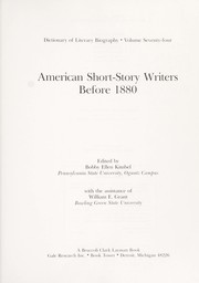 Cover of: American short-story writers before 1880 |