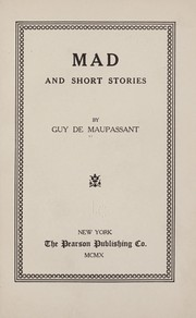 Cover of: Mad: and short stories