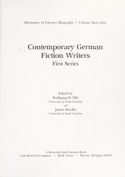 Cover of: Contemporary German fiction writers. |
