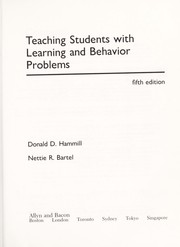 Cover of: Teaching students with learning and behavior problems | DonaldD Hammill