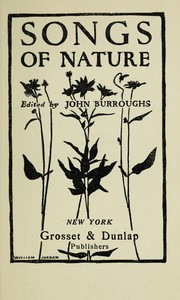 Cover of: Songs of nature