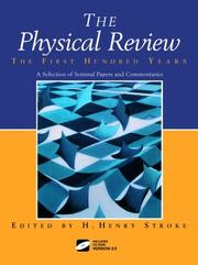 Cover of: The physical review--the first hundred years |
