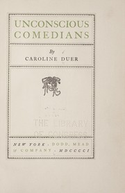 Cover of: Unconscious comedians