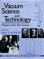 Cover of: Vacuum Science and Technology | Paul A. Redhead