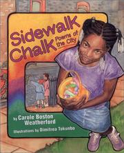 Cover of: Sidewalk chalk: poems of the city