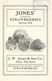 Jones catalog of strawberries