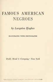 Cover of: Famous American Negroes