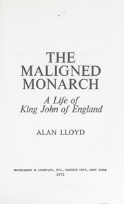 Cover of: The maligned monarch