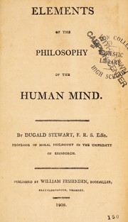 Cover of: Elements of the philosophy of the human mind