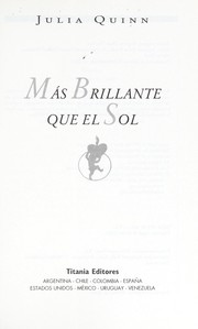 Cover of: Mas brillante que el sol
