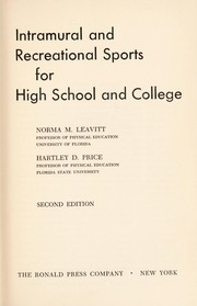 Intramural and recreational sports for high school and college.
