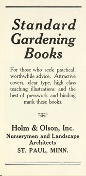Cover of: Standard gardening books | Holm & Olson