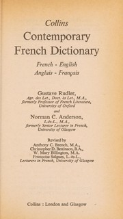 Cover of: Collins contemporary French dictionary | Gustave Rudler