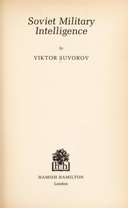 Cover of: Soviet military intelligence
