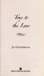 Cover of: True to the law