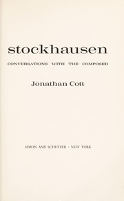 Cover of: Stockhausen; conversations with the composer