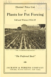 Cover of: Florist's price list of plants for pot forcing