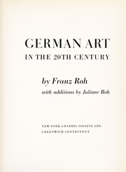 Cover of: German art in the 20th century