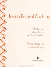 Cover of: The essential book of Jewish festival cooking | Phyllis Glazer