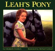 Cover of: Leah's Pony | Elizabeth Friedrich