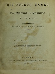 Cover of: Sir Joseph Banks and the emperor of Morocco