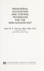 Cover of: Managerial accounting and control techniques for the non-accountant