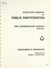 Cover of: Participant's workbook, Executive Seminar on Public Participation