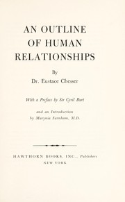 Cover of: An outline of human relationships