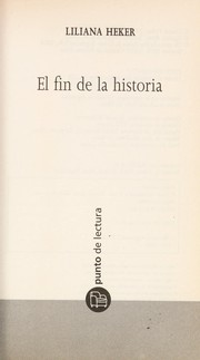 Cover of: El fin de la historia