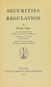 Cover of: Securities regulation