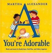 Cover of: A you're adorable | Sidney Lippman