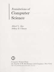 Cover of: Foundations of computer science | Alfred V. Aho