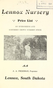 Cover of: Price list on evergreens and northern grown nursery stock | Lennox Nursery