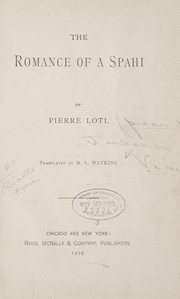 Cover of: The Romance of a Spahi