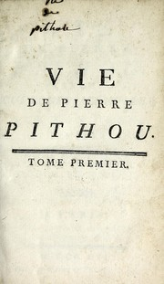 Cover of: Vie de Pierre Pithou