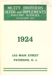 Seeds and implements, poultry supplies