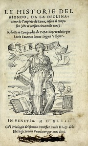 Cover of: Le historie del Biondo