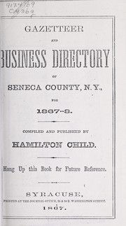 Cover of: Gazetteer and business directory of Seneca county, N.Y., for 1867-8