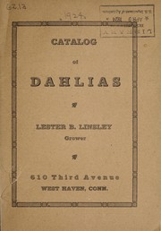 Cover of: Catalog of dahlias | Lester B. Linsley (Firm)
