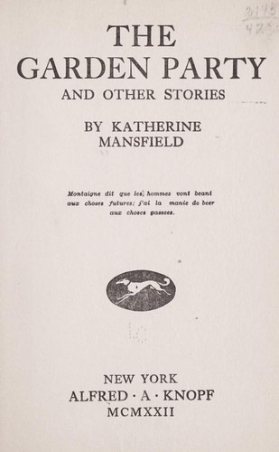 an analysis of katherine mansfields life of ma parker Kobler in katherine mansfield,  tomalin, claire, katherine mansfield, a secret life, alfreda knopf, 1988 this is a biography of mansfield cite this article.