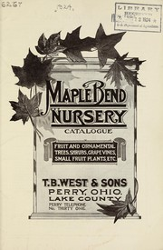 Cover of: Maple Bend Nursery catalogue | Maple Bend Nursery